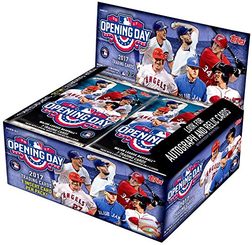 2017 Topps Opening Day Baseball Cards Hobby Box 36 Packs Of 7 Cards Including 36 Inserts