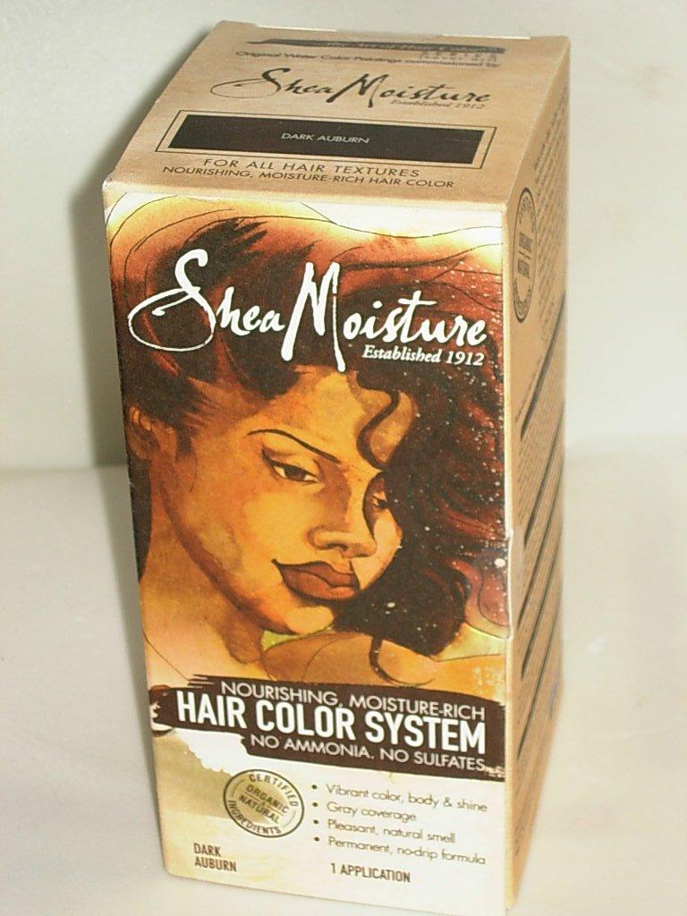Amazon Shea Moisture Certified Organic Dark Auburn Hair Color