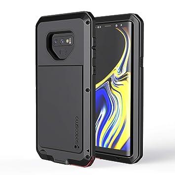 seacosmo Protector Funda para Galaxy Note 9, [Rugged Armour] Carcasa de Metal Bumper Antichoque Estuche para Samsung Note 9, Negro