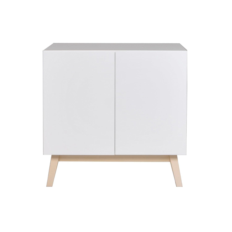 Weber Industries Home Bahut 2 Portes - Bois - Blanc - 80 x 40 x 79 -5 cm