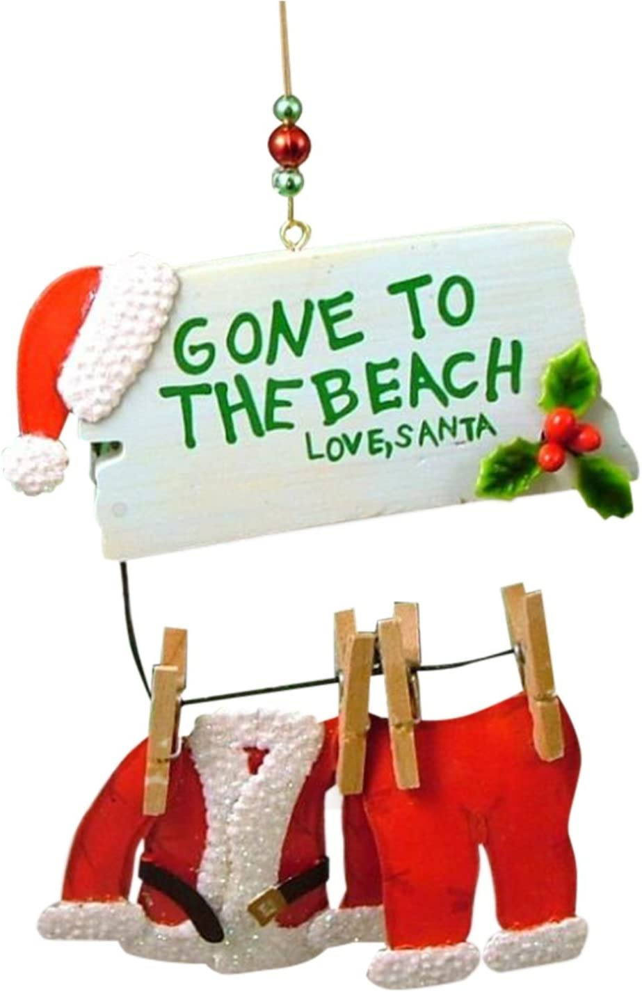 Cape Shore Santa Gone to The Beach Christmas Ornament