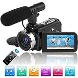 Videokamera videokamera Full HD 1080P 30FPS 24,0MP nattvisionskamera för Youtube videokameror med fjärrkontroll och…