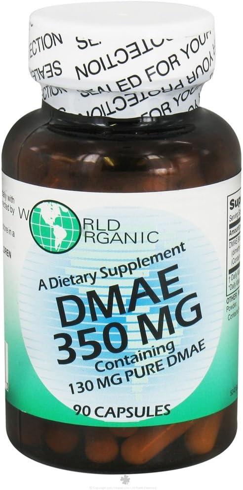 DMAE 350mg World Organics 90 Caps