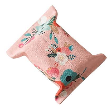 Rosa Inferior patrón de Flores Coche Papel Toalla Bolsa baño Papel Toalla Caja