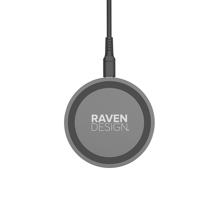 Raven design Chargeur /à Induction 5W pour Galaxy S9//S9 S8//S8+//Note 8//S7 Noir Mat