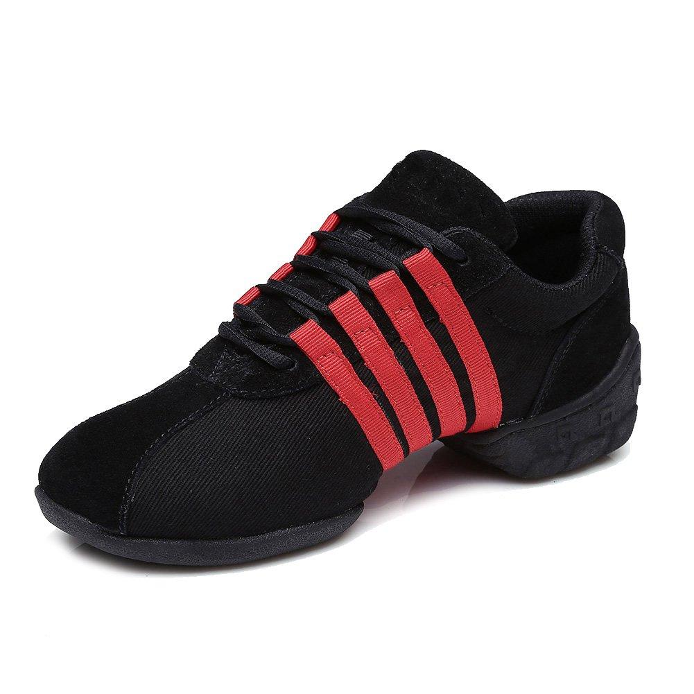 HIPPOSEUS Baskets T01 De Danse De Sport Sneaker Chaussons De Hommes Femmes/Baskets De Sport De Chaussures Toile Sneaker Modern &Jazz/de Plein air Gymnastique Soft, Modèle T01 Rouge adf296c - shopssong.space
