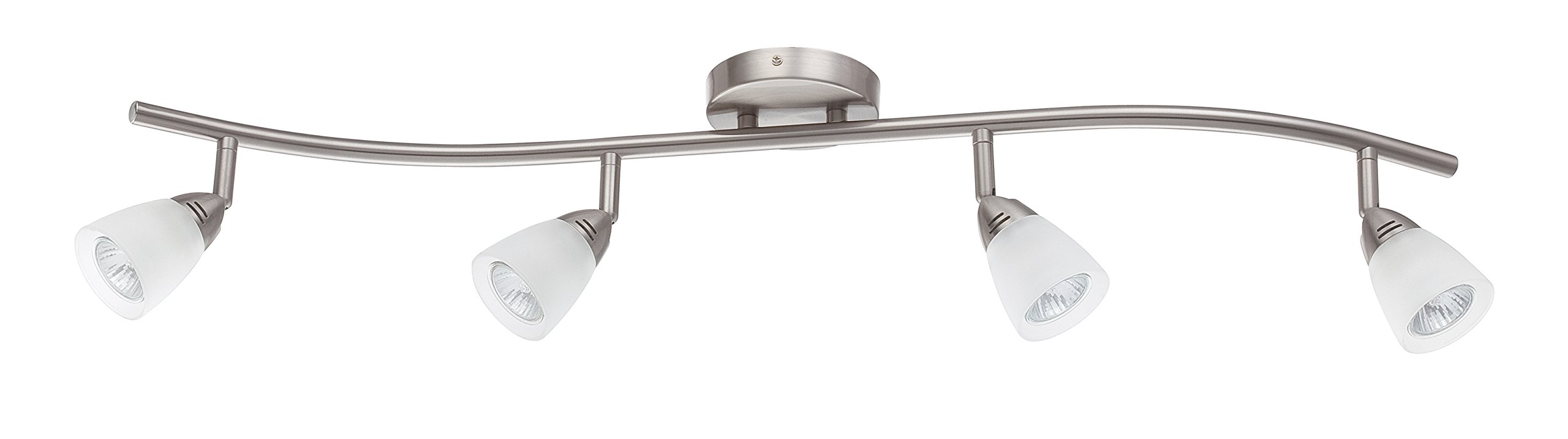 Luminance F2987-80 Contemporary 4 Fluorescent Track Light with Bright Satin Nickel Finish