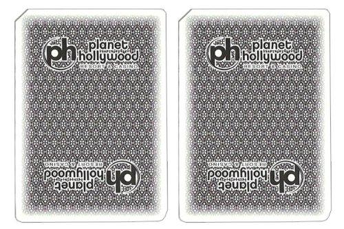 - 1 Deck Planet Hollywood Casino Playing Cards Used In Real Casino - Free Bounty Button Kit