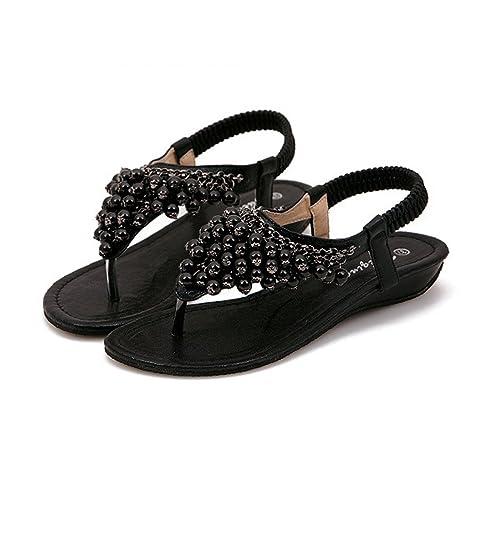 60e86a2ee42d7a TieNew 2018 Damenschuhe Böhmen Sandalen Wohnungen Strand Schuhe Freizeit  Sandalen Flip Flop Sommerschuhe