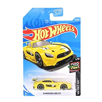 Hot Wheels 2020 Hw Race Day 1/10: '16 Mercedes-AMG GT3 (Yellow): Toys & Games