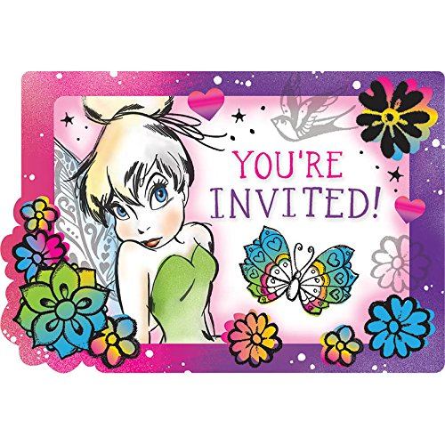 amscan Invitations | Disney Tinkerbell Keep Flying Collection | Party Accessory