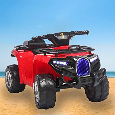 JOYBASE Kids Electric Ride On Car, Kids ATV, Red: Toys & Games