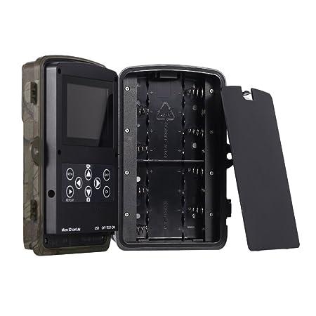 ... caza de 12 mp 1080p Full Hd Trail infrarrojos Wildlife con visión nocturna resistente al agua Game Cam para monitoreo Pr-800 al aire libre portátil 8 mp ...