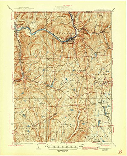 YellowMaps Susquehanna PA topo map, 1:62500 scale, 15 X 15 Minute, Historical, 1935, updated 1944, 20.9 x 17 IN - Tyvek