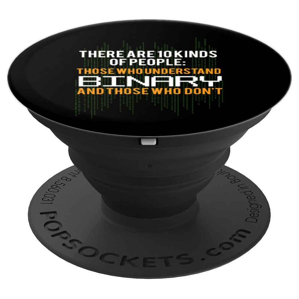 Binary Math Geek Nerd Gifts Computer Funny - PopSockets Grip and Stand for Phones and Tablets