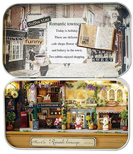 ミニチュアドールハウス ミュゼ缶 ロマンチックな街角 手作りキット 516-02