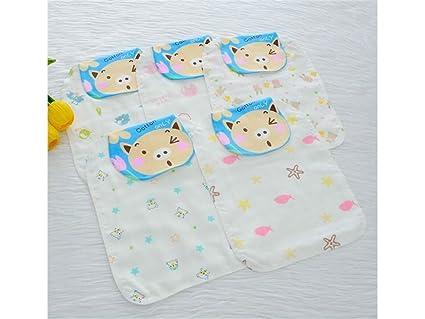 NaXinF Toallas de baño para bebés 1Pc Parpadeo Pig Impresa Sudor Absorbente Wicking Toalla Gasa Sudor
