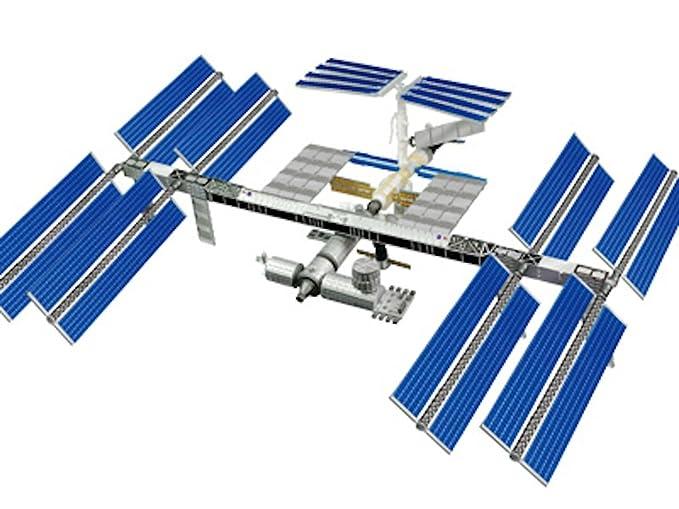 4d Vision Estación Espacial Internacional con transbordador espacial ...