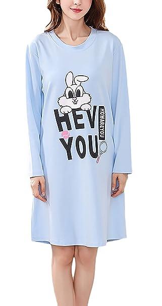Pijamas Mujer Tallas Grandes Elegante Primavera Otoño Manga Larga Cuello Redondo Lindo Patrón Print Homewear Casuales
