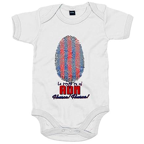 Body bebé lo tengo en mi ADN Huesca fútbol - Blanco, 6-12 meses ...