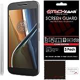 [Pack of 3] TECHGEAR® Motorola Moto G4 (XT1625) ULTRA CLEAR LCD Screen Protector Cover Guards [Moto G4]