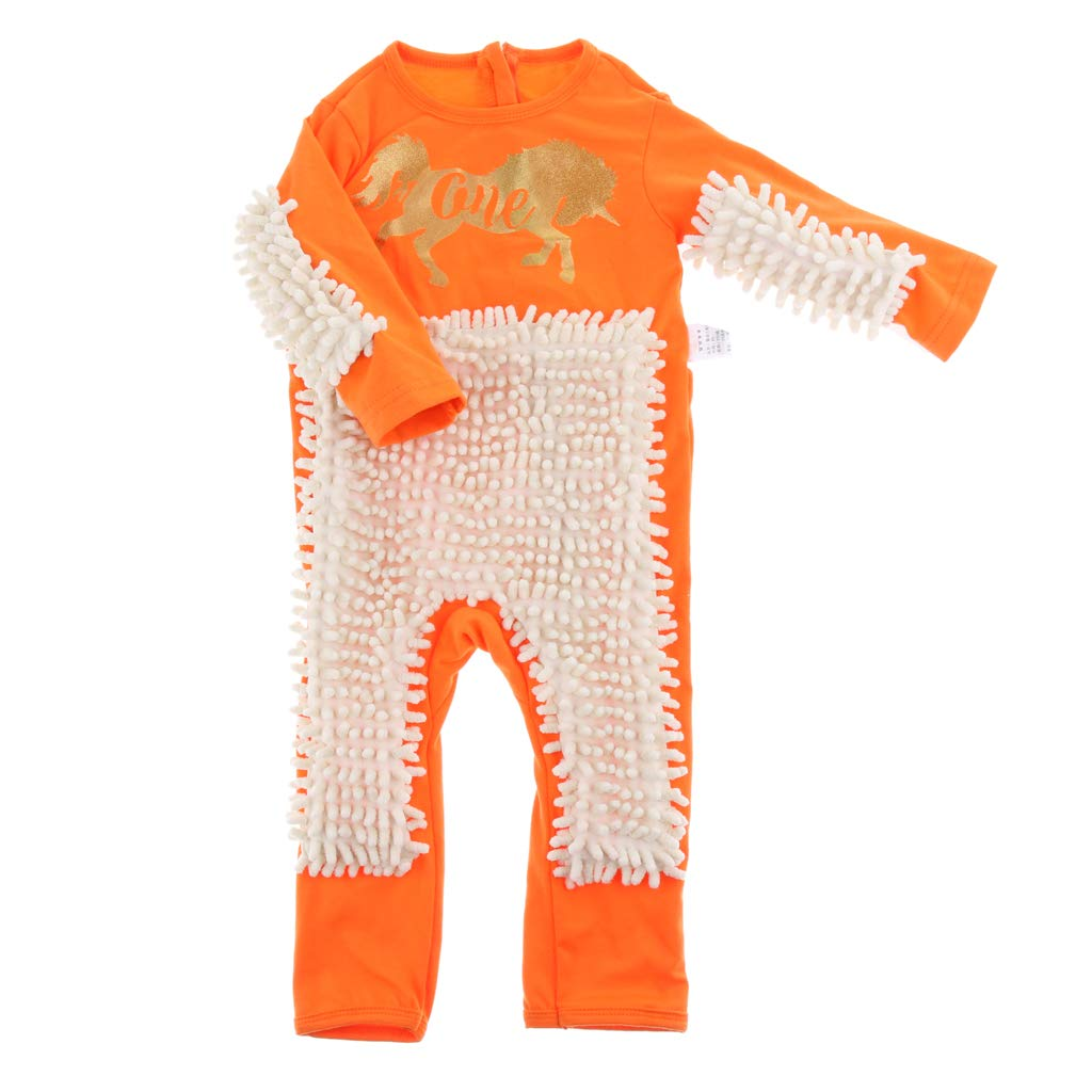 Fenteer Baby Mop Romper Outfit Sols Nettoyage Combinaison