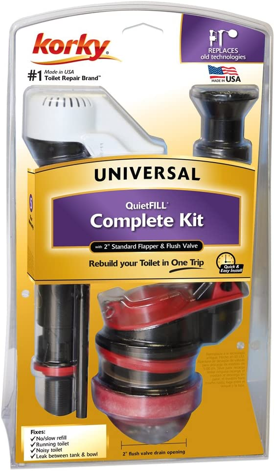 Korky 4010pk Universal Complete Toilet Repair Stops Running Leaking Noisy Toilets Easy To Install Made In Usa 10 1 4 X 6 3 8 X 3 1 2 Faucet Trim Kits Amazon Com