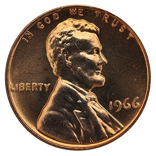 1966 Gem Special Mint Set SMS Lincoln Memorial Cent Penny Uncirculated US Mint