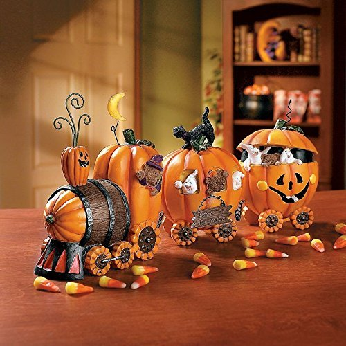 Indoor Halloween Decorations - 1 X The Pumpkin Express Train - Decorative Accessories