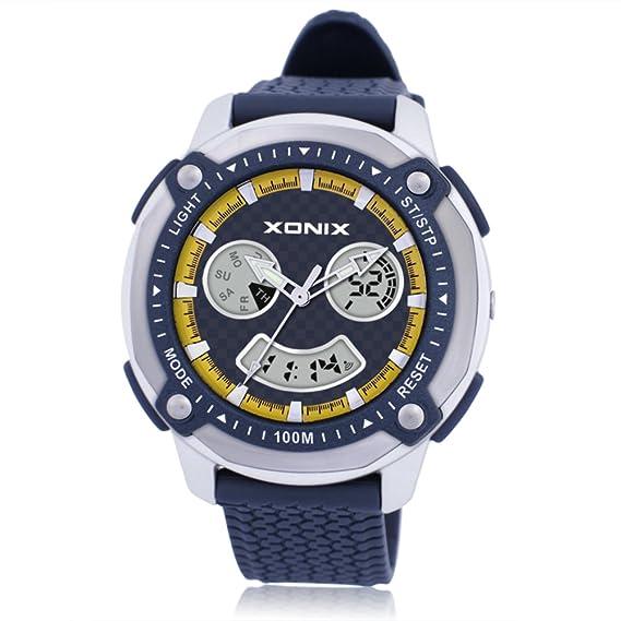 Hombres de relojes/deportes al aire libre, escalada de montaña, resistente al agua de los relojes digitales/LED, estudiante multifuncional watch-h: ...