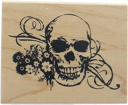 P30 Skull rubber stamp
