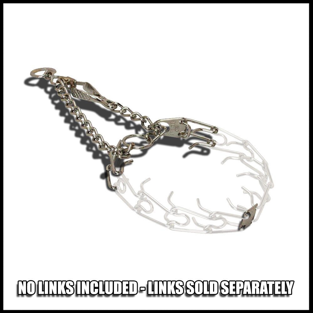Herm Sprenger Pet Supply Imports Custom size Chrome Plated Training Collar with Quick Release Snap for Dogs, 2.25mm - No links included