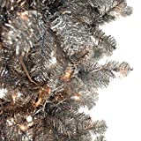 Vickerman Silver Upside Down Artificial Christmas Tree with 250 Warm White LED Lights, 5.5' x 38""