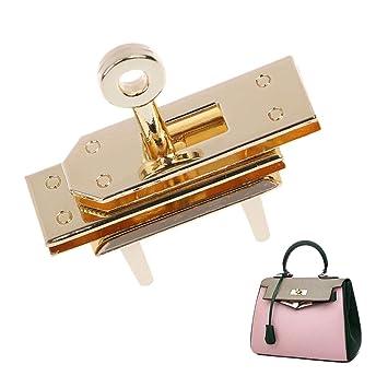 Exing Taschenverschluss Metall Steckschloss F/ür Taschen Zubeh/ör F/ür Taschen N/ähen,Gold 4.6x2.6x3.9 cm