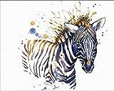 zebra decor for kitchen - 7Dots Art. Baby Animals. Watercolor Art Print, Poster 8