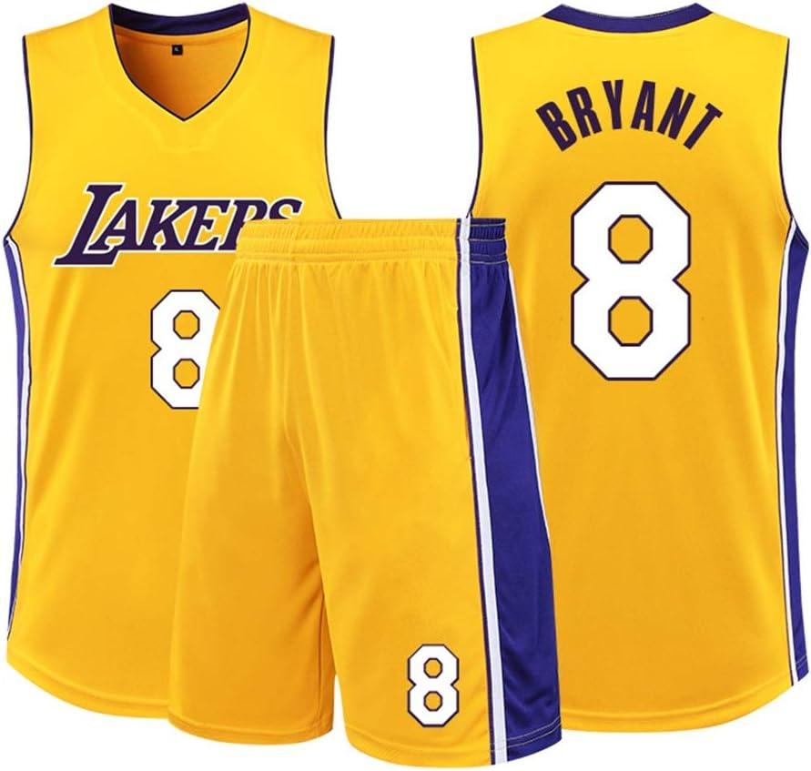 Traspirante ad Asciugatura Rapida Sport Estivi Tessuto del Ricamo della Maglietta S-XXL Maglia Basket Maglia Basket Maschile Lakers No 8 Kobe Bryant