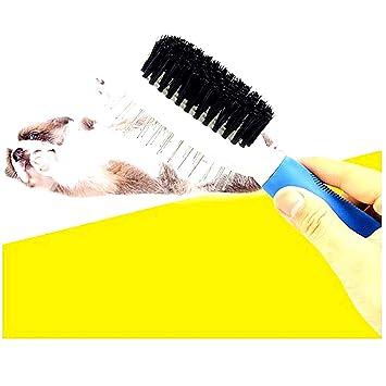 Beito Herramienta de Aseo Doble Cara Cepillo Profesional del Perro del Animal doméstico Dual Deshedding del