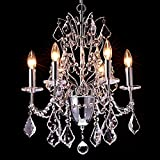 LightInTheBox Candle Chandeliers , Modern/Contemporary Crystal Pendent Light Flush Mount Chrome Ceiling Lighting Fixture for Living Room Bedroom Dining Room Game Room