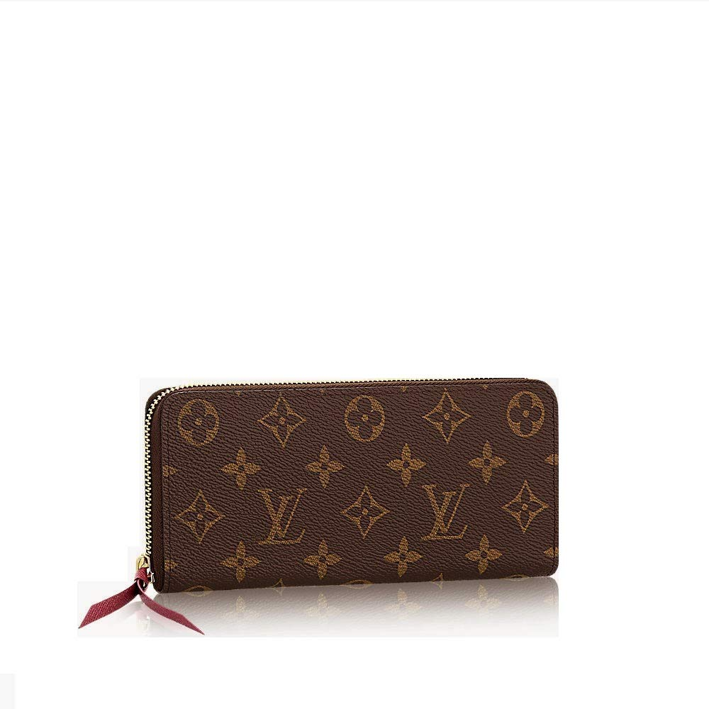 Clemence Style Monogram Canvas WalletRfid with Pivoine Lining for Woman By Look At My Bags
