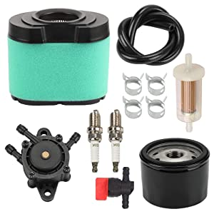 Wellsking 792105 276890 Air Filter +492932 Oil Fuel Filter for Briggs & Stratton 4163205 4163206 407777 445667 445877 John Deere LA165 D160 MIU11515 GY21057 Lawn Mower