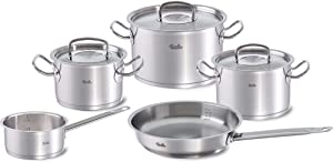 Fissler Original-Profi Collection / Cookware-Set, Pots, Pan, Casserole, (5-Pieces), Stainless Steel, Compatible Stovetops: Induction, Gas, Electric, oven & dishwasher-safe