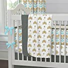 Carousel Designs Gray Tribal Arrows Crib Blanket