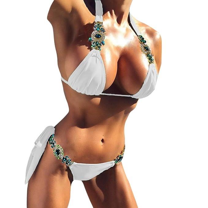 3f8b6461823f Weant Costumi da Bagno Donna Bikini Costume da Bagno Donna Due Pezzi  Imbottito Push-up