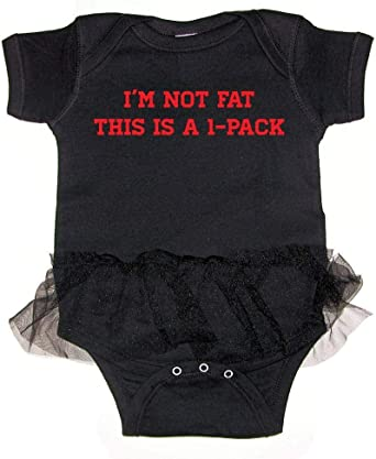 Mashed Clothing Unisex Baby Im Not Fat This Is A 1-Pack T-Shirt Romper