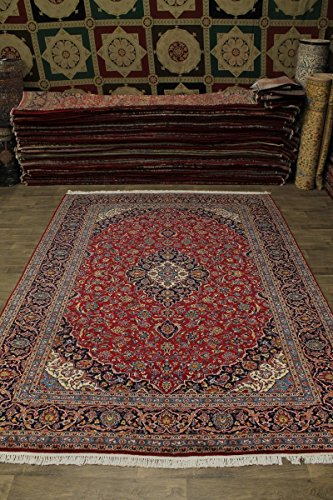 - Admin Rugs 10X14 Classic Handmade Vintage Kashan Persian Style Area Rug Oriental Carpet 9'7X13'6