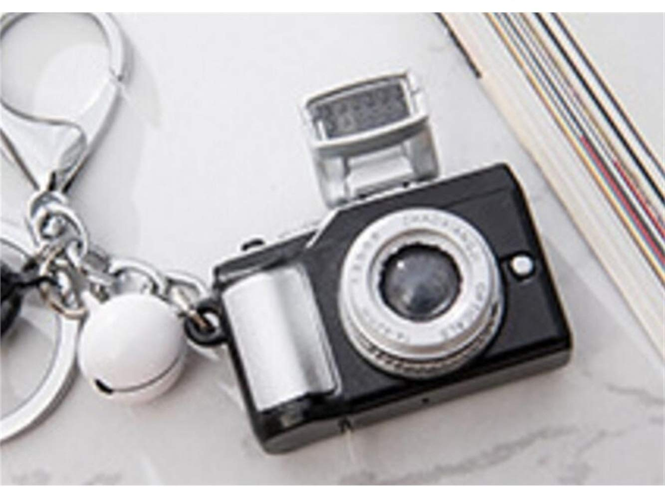 Amazon.com  Special Cartoon Childlike Creative Mini Camera Keyring with  Shine and Voice LED Key Chain Metal Pendant for Women and Men Yellow Bag  Pendant  ... a028b70a65
