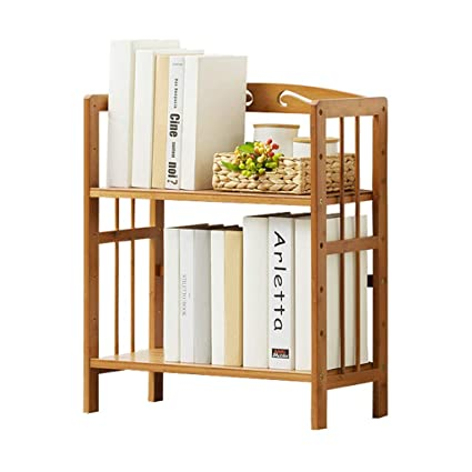 Simple Bookshelf Racks Multi Layer Bamboo On The Table Childrens Student Bookcase