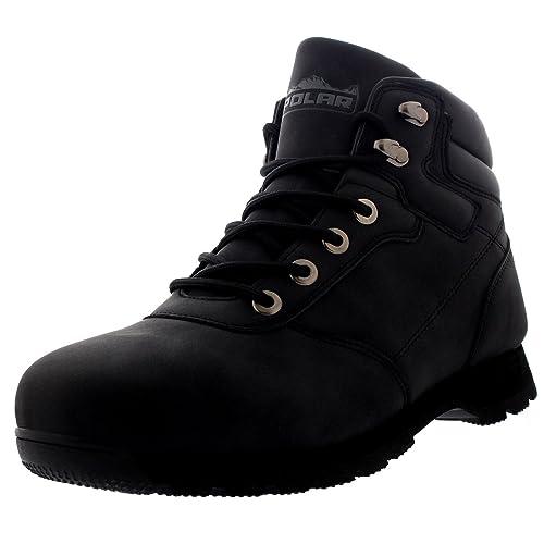Polar Hombre Excursionismo para Caminar Impermeable Nieve Invierno Cuello Acolchado Botines - Nero - UK12/EU46 - WT0001: Amazon.es: Zapatos y complementos
