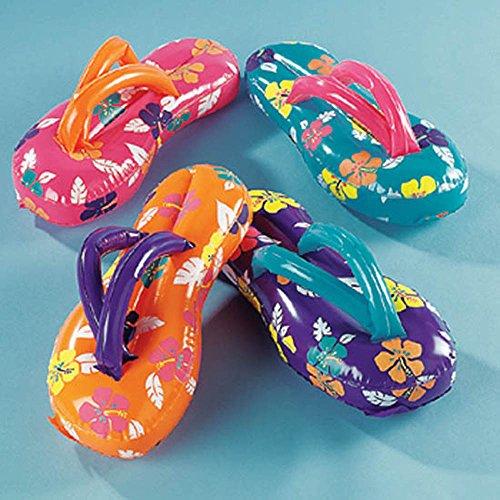 24 Inflatable Flip Flop Flops Luau Party Decor Favors Beach Sandals Summer -