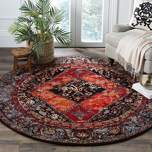 Safavieh Vintage Hamadan Collection VTH217B Orange and Multi Round Area Rug (5'3